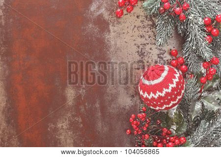 Christmas decoration frame