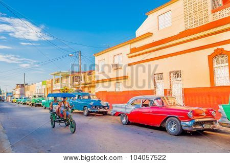 Trinidad, Cuba - September 12, 2015:  Capital Of Cienfuegos Province, Is A City On The Southern Coas