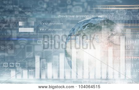 Conceptual image with global financial charts and graphs. Elements of this image are furnished by NASA