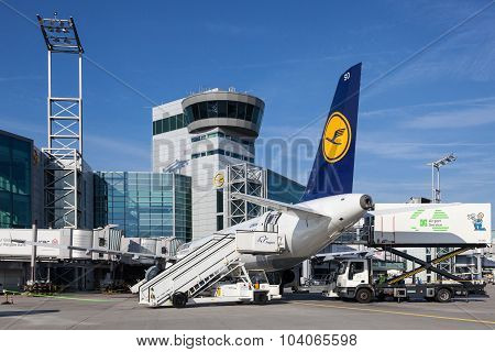 Control Tower At The Frankfurt Airport
