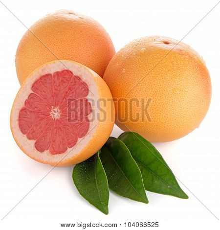 Ripe Cut Red Grapefruit