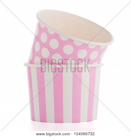 Pink Paper Disposable Cups
