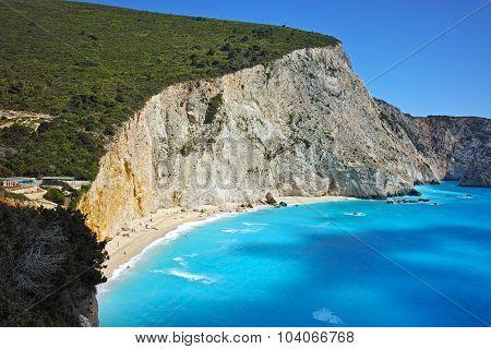 Blue Waters of Porto Katsiki Beach, Lefkada, Ionian Islands