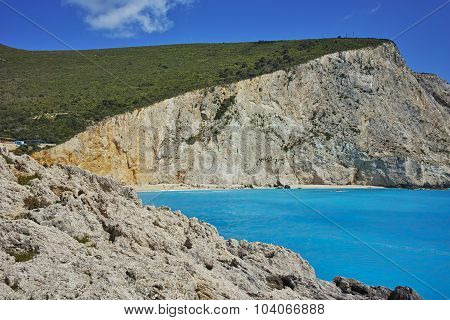 Panorama of Porto Katsiki Beach, Lefkada, Ionian Islands