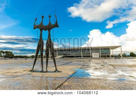 BRASILIA, BRAZIL - CIRCA MARCH 2015: Square of the Three Powers in Brasilia, the capital of Brazil