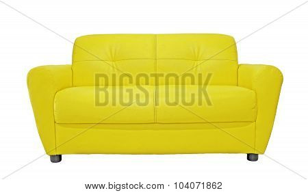 Yellow Sofa Furniture Isolated On White