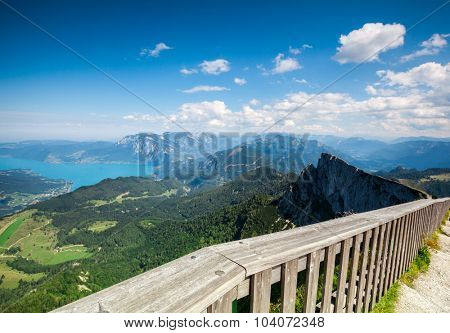 a backgrounds panorama mountains in Austria