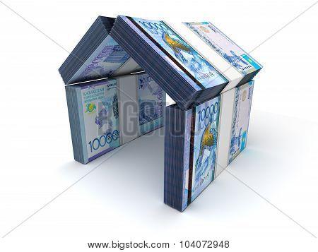 Real Estate Concept Kazakh Tenge