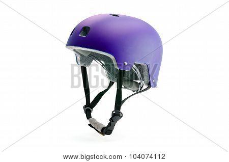Colorfull bike helmet isolated