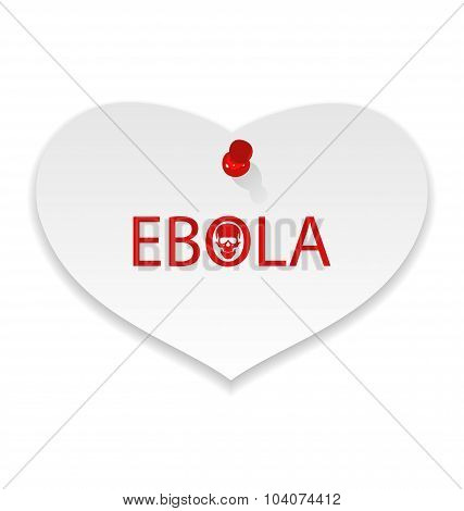 Warning epidemic Ebola virus, paper memo