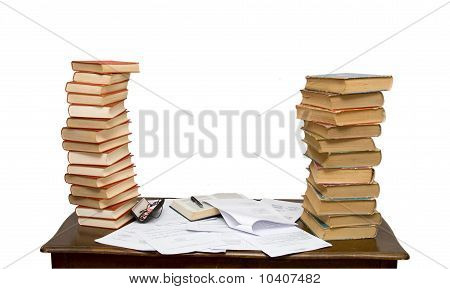 Different College Text Books