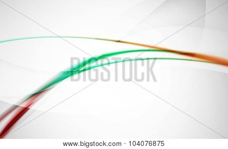 Wave abstract background. Business or hi-tech presentation template or advertising layout