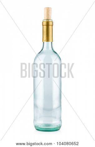 Empty bottle isolated on white background.