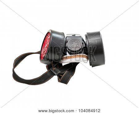Chemical protective mask isolated on white background