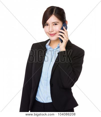 Young Businesswoman talk to cell phone