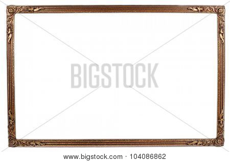 Picture frame on plain background