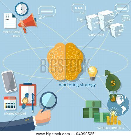 Global Business Concept Startup Businessman set