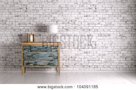 Interior Of A Room With Chest Of Drawers 3D Render
