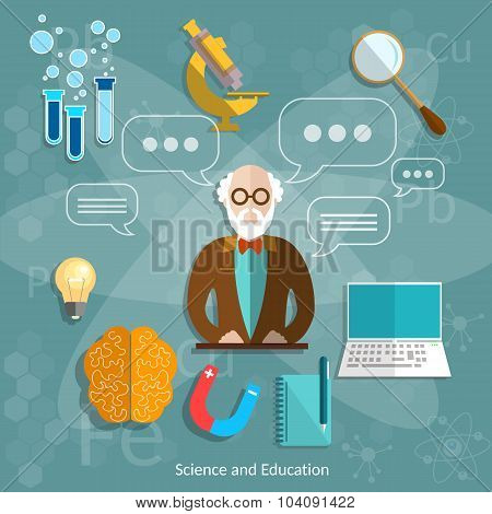 Science And Education Professor Theory Teacher International Graduation Concept University School