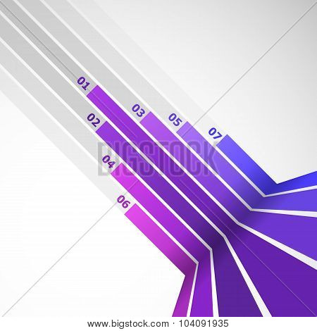 Abstract Design Element With Violet Lines