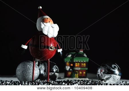 Christmas Santa With Black Background