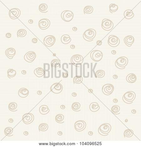Seamless pattern. Casual polka dot texture. Stylish doodle