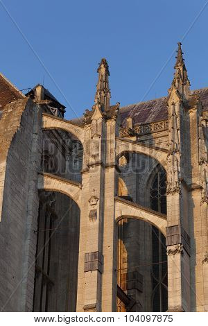 Flying Buttress In The Cathedral Of Beaubais, Oise, Picardie, France