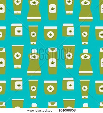 Seamless Pattern of Cosmetics Containers