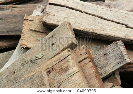 Firewood Pile. Wood Pile. Pile Of Old Wood Decay.