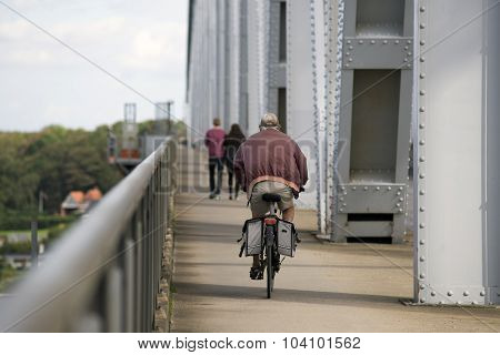 Cyclist And Walkers