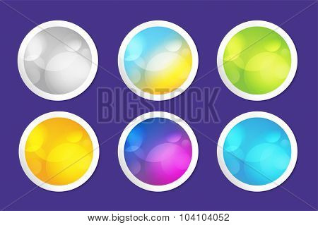 Vector web banner infographic template. Web banner buttons design. Website template and information design, web structure, creative banner idea or paper blank, pattern,arrow, circle buttons sticker