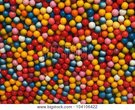 background multicolored balls of candy