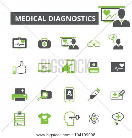 medical diagnostics icons