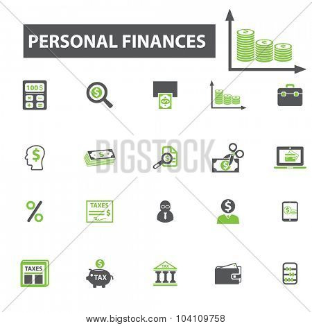 personal finances icons