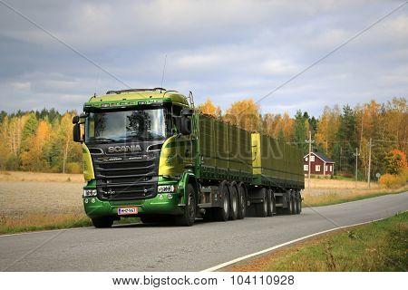 Scania R730 Truck Transports Sugar Beet