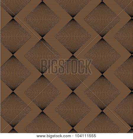 Brown Rhombus Strict Style Pattern