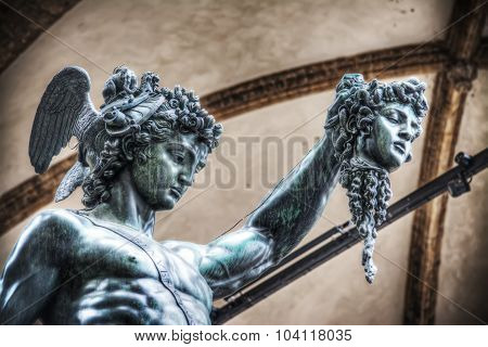 Detail Of Perseo Holding Medusa Head