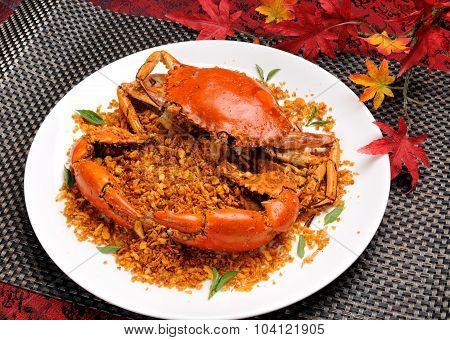 Crab  dish. crabs cuisine.