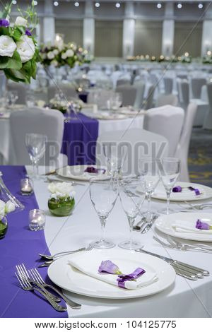 Tables detail in wedding day