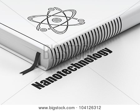 Science concept: book Molecule, Nanotechnology on white background