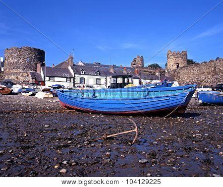 Boat on Conwy beach.