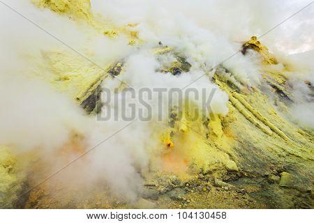 Ijen Volcano Crater