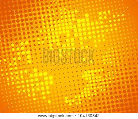 Abstract vector pop-art dotted backdrop.