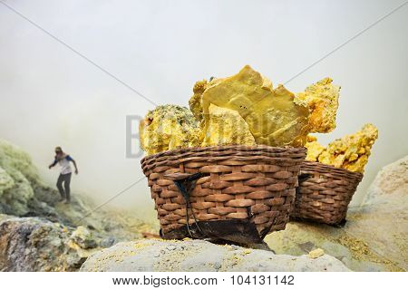 Basket With Sulfur