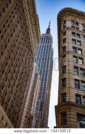 NEW YORK CITY, USA - CIRCA SEPTEMBER 2014: Empire State Building in New York City