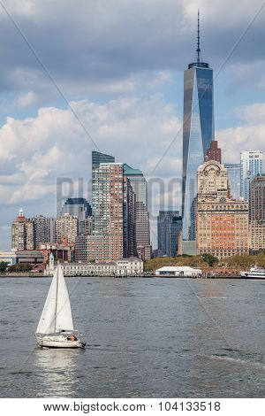 NEW YORK CITY, USA - CIRCA SEPTEMBER 2014: World Trade Center One in Downtown Manhattan