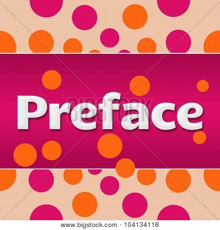 Preface Pink Orange Dots