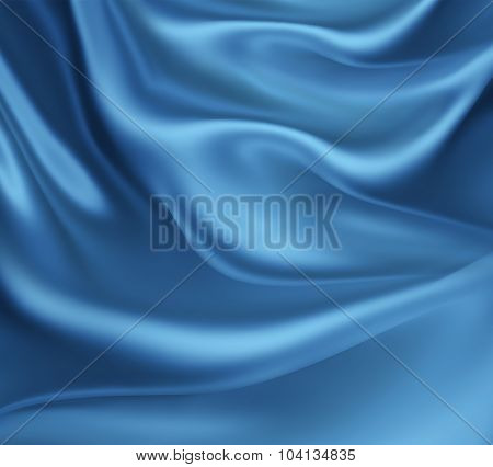 Blue Silk Waves
