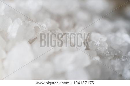 Close-up Of Coarse Sea Salt