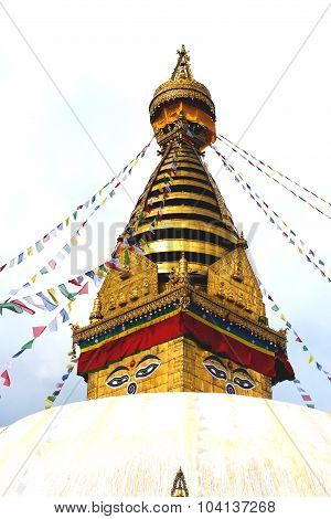 Swayambhunath Temple, Wisdom Eyes In Nepal